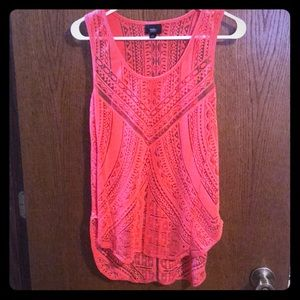 Coral tunic tank size M